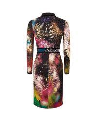 Roberto Cavalli - Multicolor Firework Print Dress - Lyst