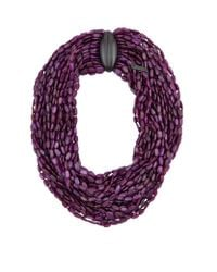 Eskandar | Purple Multi Strand Horn Bead Necklace | Lyst