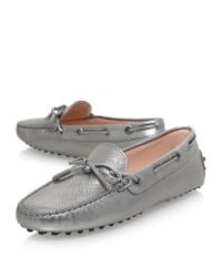 Tod's - Gray Gommino Heaven Laced Driving Shoes - Lyst