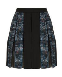 Diane von Furstenberg | Black Maison Pleated Mini Skirt | Lyst