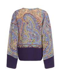 Etro - Multicolor Paisley Kimono Top - Lyst