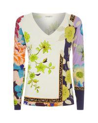 Etro | Multicolor Flower Print Jumper | Lyst