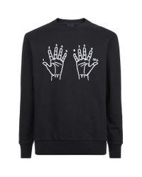 Lanvin | Black 10 Year Hands Sweater for Men | Lyst
