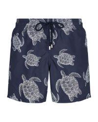 Vilebrequin - Blue Bleu Marine Moorea Swim Shorts for Men - Lyst