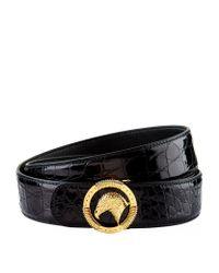 Stefano Ricci | Black Eagle Circle Buckle Crocodile Belt for Men | Lyst