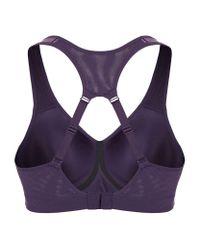Nike - Purple Pro Rival Bra - Lyst