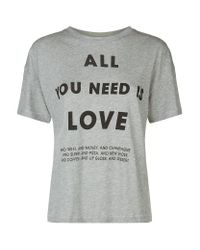 Wildfox | Gray All You Need T-shirt | Lyst