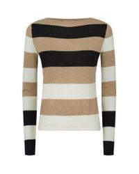 Max Mara | Gray Savina Wide Stripe Cashmere Jumper | Lyst