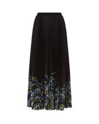 Erdem | Black Nesrine Pleated Skirt | Lyst