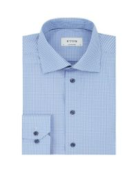 Eton of Sweden | Blue Contrast Collar Contemporary Fit Shirt for Men | Lyst