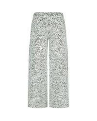 Theory | Multicolor Henriet Cropped Jacquard Trousers | Lyst