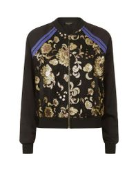 Juicy Couture   Black Embellished Lace Bomber Jacket   Lyst