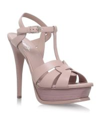 Saint Laurent | Pink Tribute Sandals 105 | Lyst