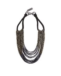 Weekend by Maxmara | Black Multi Strand Beaded Necklace | Lyst