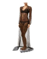 Agent Provocateur - Gray Thea Lace Gown - Lyst