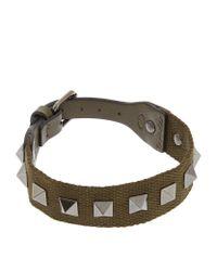 Valentino | Green Camo Canvas Stud Bracelet for Men | Lyst