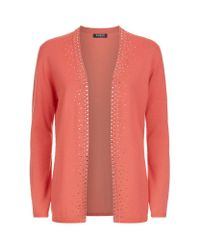 Harrods - Multicolor Embellished Cashmere Cardigan - Lyst