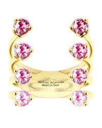 Delfina Delettrez   Pink 8 Dots Ring   Lyst