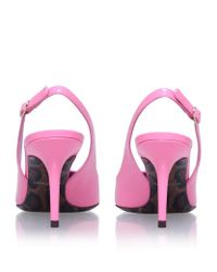 Dolce & Gabbana | Pink Kate Patent Slingbacks 75 | Lyst