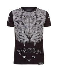 Philipp Plein | Black Swarovski Tiger Top T-shirt for Men | Lyst