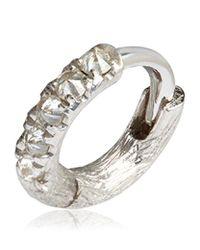 Annoushka | Metallic Dusty Diamonds Single Rhodium Hoop Earring | Lyst
