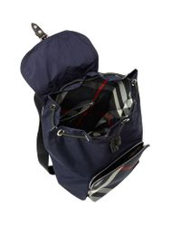 Burberry - Blue Technical Packaway Backpack for Men - Lyst