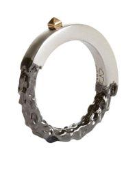 Valentino | Metallic Unfinished Ring | Lyst