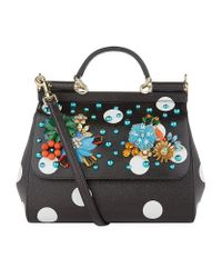 d53769b8fe5f Dolce   Gabbana. Women s Medium Polka Dot Sicily Bag