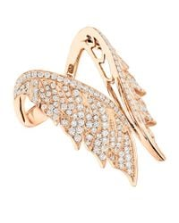 Stephen Webster | Metallic Magnipheasant Pavé Open Feather Ring | Lyst