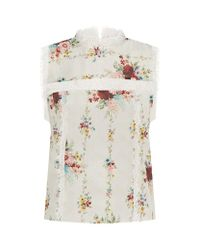 Alice + Olivia | Multicolor Jonie Floral Silk Top | Lyst