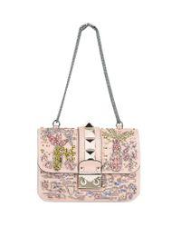 Valentino   Multicolor Mini Garden Embellished Rockstud Lock Bag   Lyst