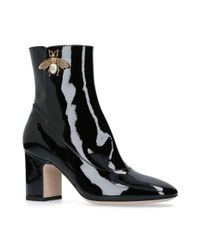 Gucci - Black Lois Bee Ankle Boots 75 - Lyst
