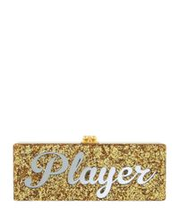 Edie Parker - Metallic Flavia Player Acrylic Clutch - Lyst