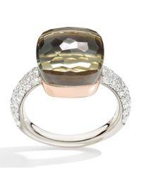 Pomellato - Metallic Nudo Prasiolite And Diamond Maxi Ring - Lyst