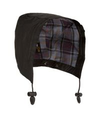 Barbour Black Bedale Waxed Hood for men