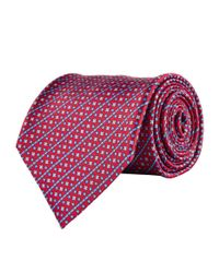 Stefano Ricci - Red Geometric Stripe Tie for Men - Lyst