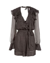 4b78dd5e3b Lyst - Zimmermann Painted Heart Cascade Playsuit in Gray