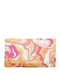 Emilio Pucci - Red Printed Clutch Bag - Lyst