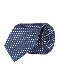 Eton of Sweden - Blue Diamond Print Tie for Men - Lyst