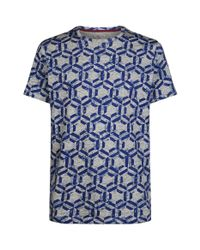 Ted Baker Blue Mitch Hexagon Print T-shirt for men