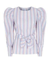 Claudie Pierlot - Blue Bimimi Striped Cotton Blouse - Lyst