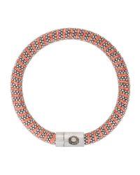 Carolina Bucci - Red Sterling Silver Woven Bracelet - Lyst
