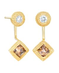 De Beers - Metallic Yellow Gold Talisman Drop Earrings - Lyst