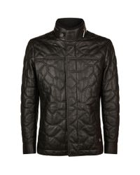 Stefano Ricci Black Africa Quilted Leather Jacket for men