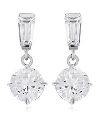 Carat* | Metallic 0.75ct Brilliant Round Drop Earrings | Lyst