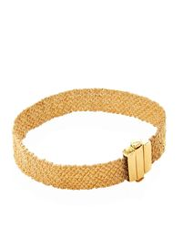 Carolina Bucci - Metallic Gold And Silk Woven Bracelet - Lyst