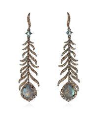 Annoushka - Metallic Mythology Tsar Feather Earrings - Lyst