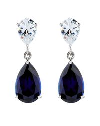 Carat* - Blue 2.5ct Sapphire Pear Drop Earrings - Lyst