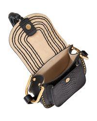 Chloé Black Mini Hudson Python Shoulder Bag