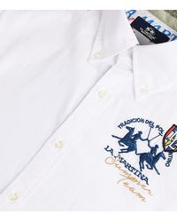 La Martina - White Oxford Stretch Shirt for Men - Lyst
